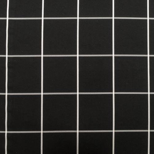 Tissu noir quadrillé