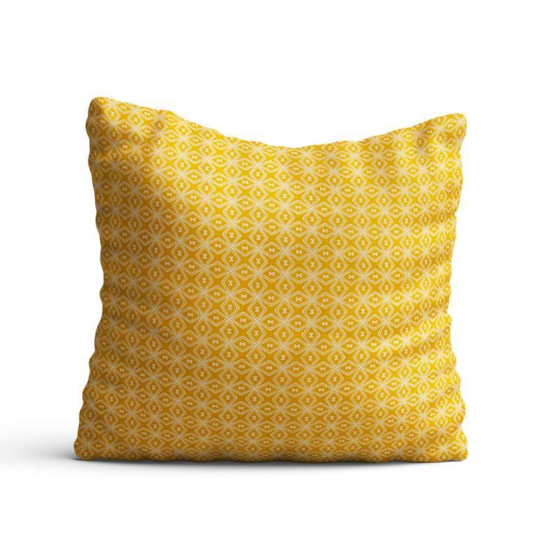 Coton moutarde motif wata