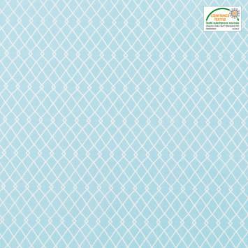 Coton bleu motif etnia