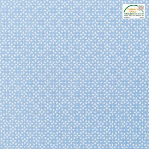 Coton bleu fleur de grain de riz