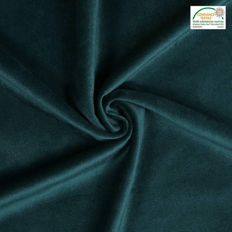 velours uni bleu canard 450 gr pas cher tissus price. Black Bedroom Furniture Sets. Home Design Ideas
