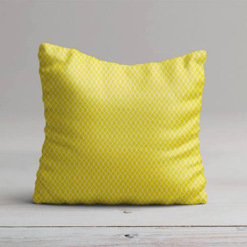 Coton jaune motif etnia