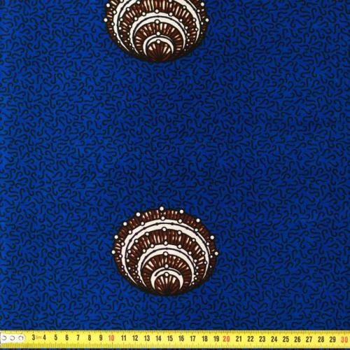 Wax - Tissu africain bleu foncé 169