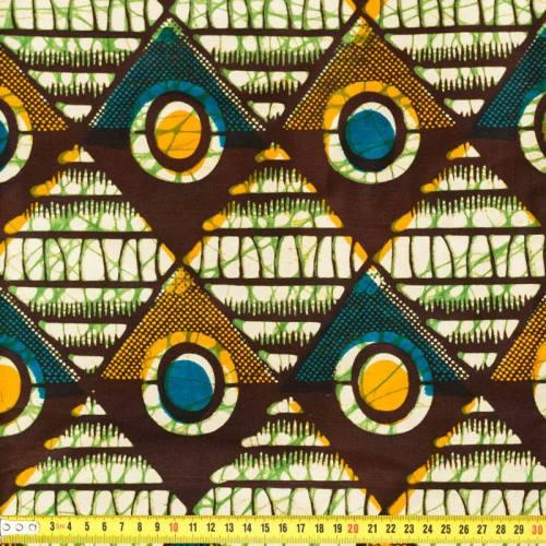 Wax - Tissu africain multicolore 157