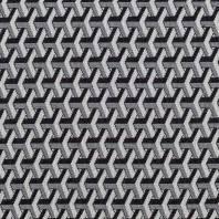 Jacquard motif abstrait géométrique noir