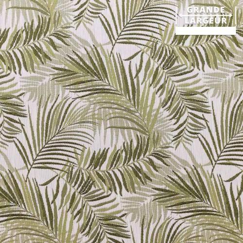 Jacquard jungle tibal vert et gris