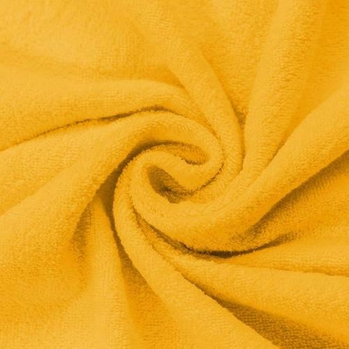 Tissu éponge jaune