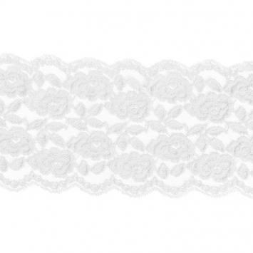 Dentelle blanche extensible 150mm
