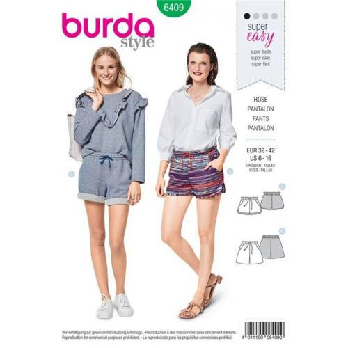 Patron Burda 6409 : Pantalon Taille 32-42