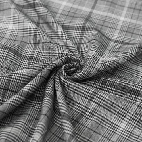 Tissu tartan gris et noir