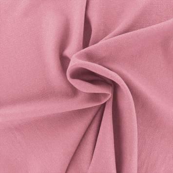 Tissu crêpe vieux rose