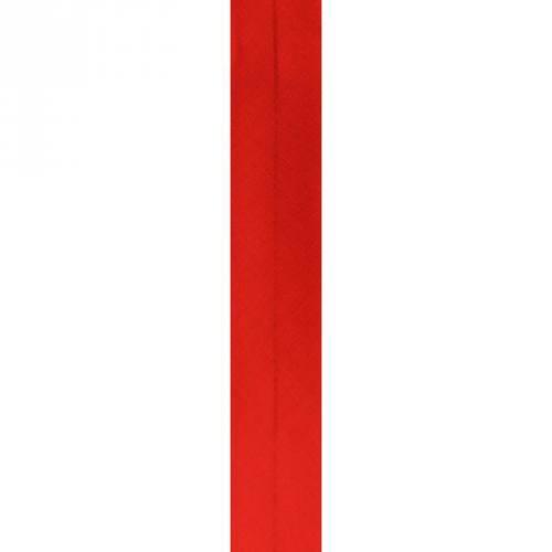 Bobine de biais 30mm 5m rouge vermillon