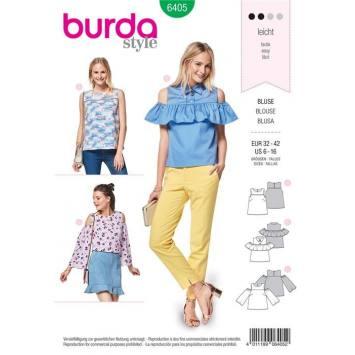 Patron Burda 6405 : Blouse taille 32-42