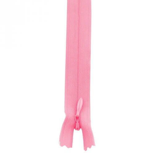 Fermeture à glissière invisible 40 cm col 111 rose bonbon