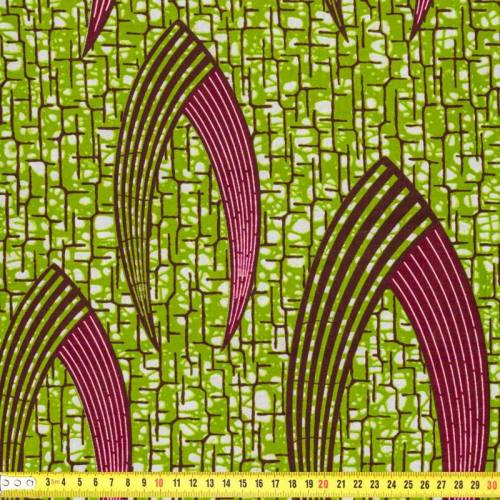 Wax - Tissu africain pince verte 188