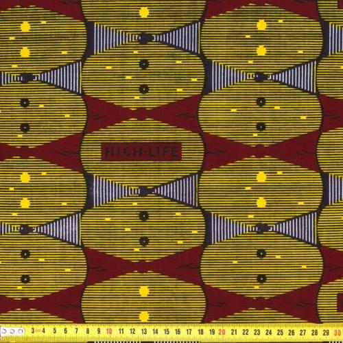 Wax - Tissu africain géométrique et rayures 187