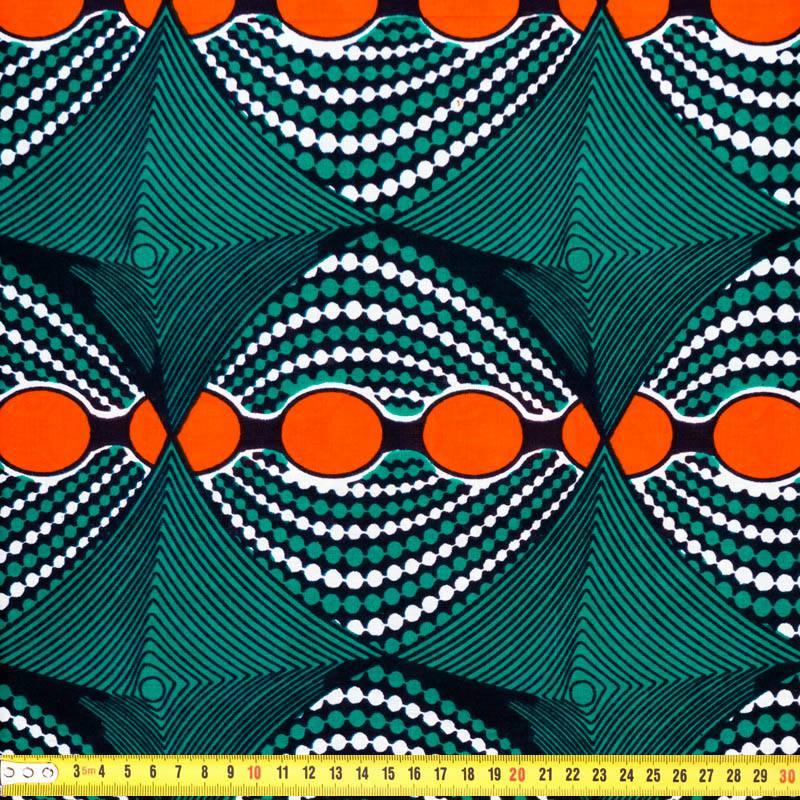 tissu africain orange