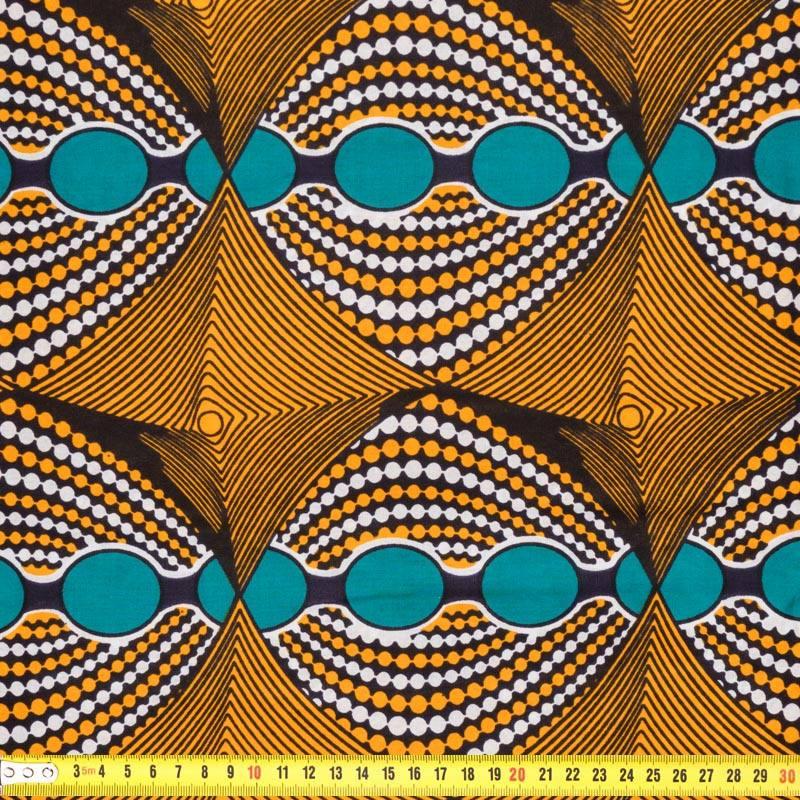 Wax Tissu Africain Psycho Jaune 205