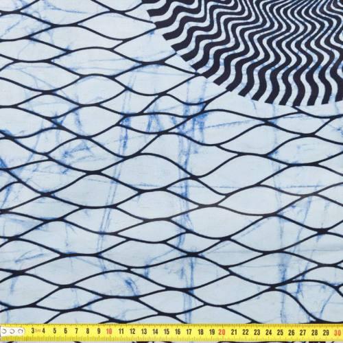 Wax - Tissu africain nuances de bleu 178