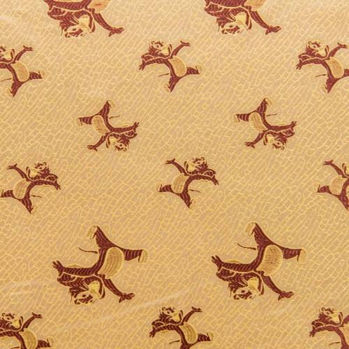 Satin asiatique doré motif souris