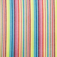 Tissu mexicain multicolore jaune pastel