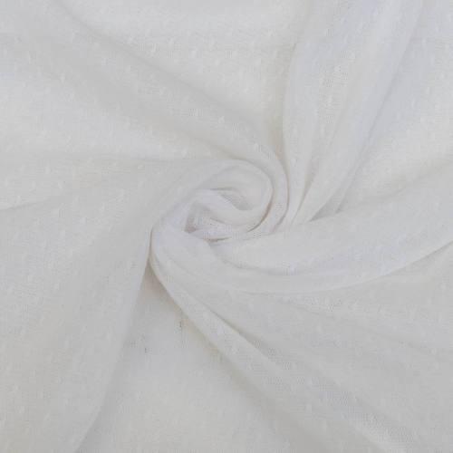 Résille extensible plumetis blanc