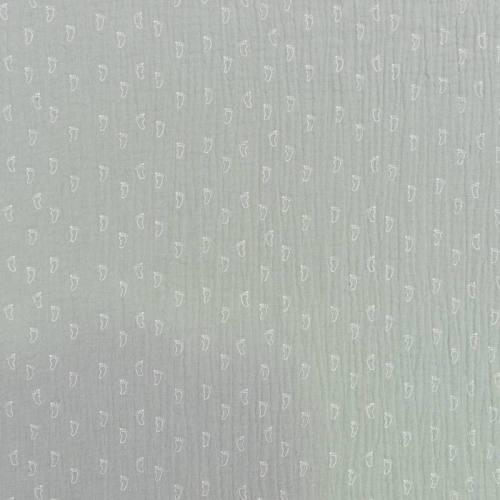 Double gaze vert d'eau imprimée pied