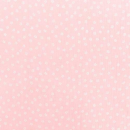 Double gaze rose imprimée pétales