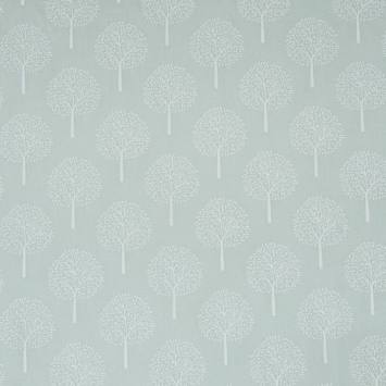 Voile de coton vert d'eau motif arbre