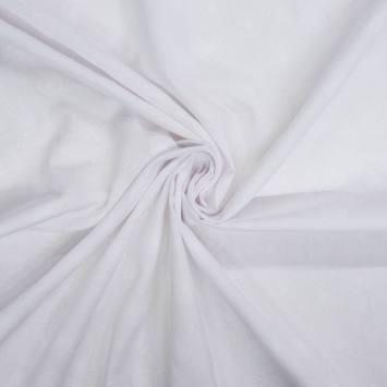 Voile de coton blanc motif pissenlit