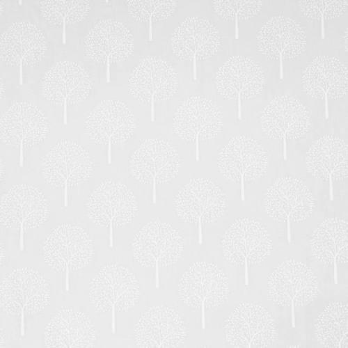 Voile de coton blanc motif arbre