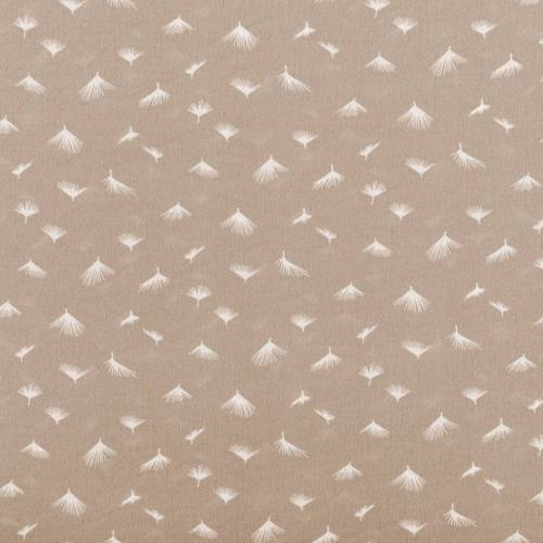 Tissu crêpe beige motif pissenlit
