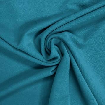 Jersey crêpe bleu paon