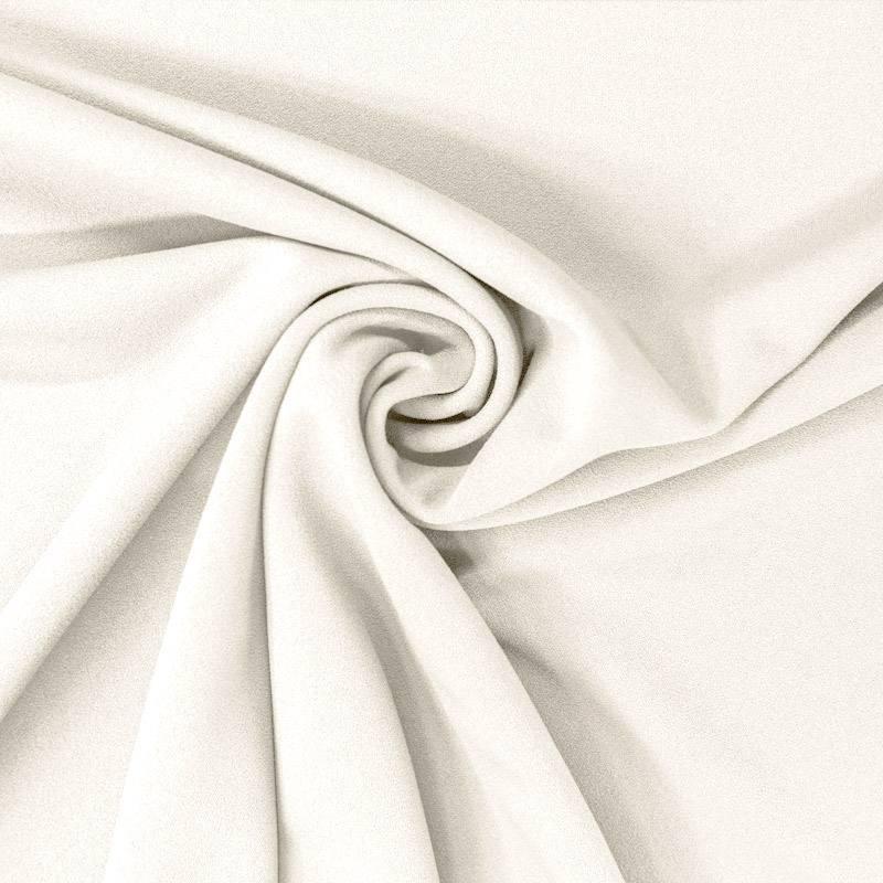 Tissu scuba crêpe blanc cassé