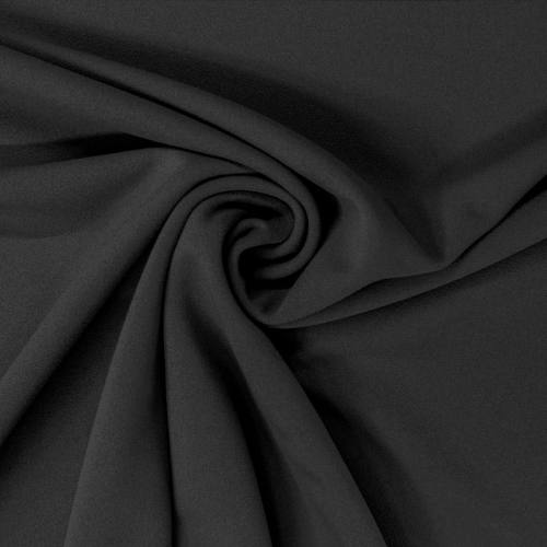 Tissu scuba crêpe noir
