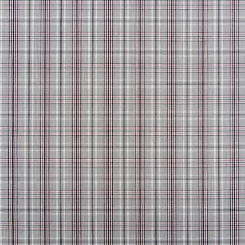 Tissu carreaux Check gris et rose