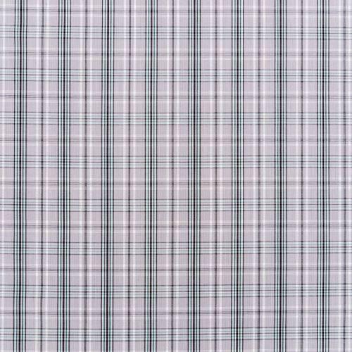 Tissu carreaux Check gris et vert