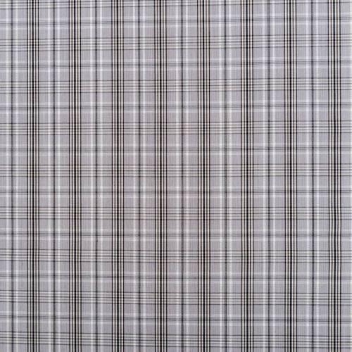 Tissu carreaux Check gris et marron