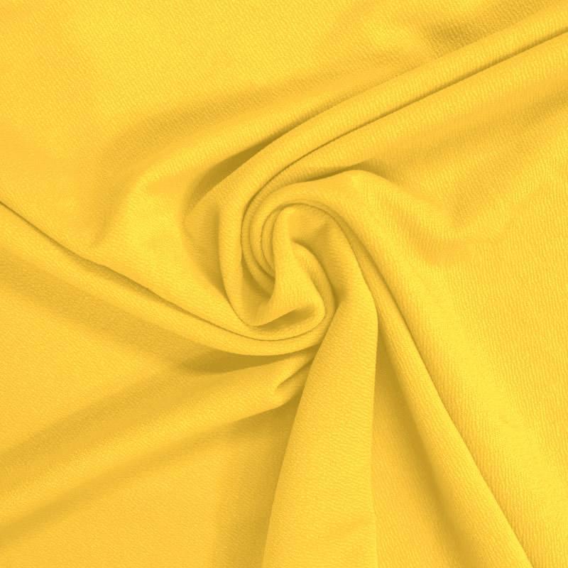 Tissu crêpe stretch jaune