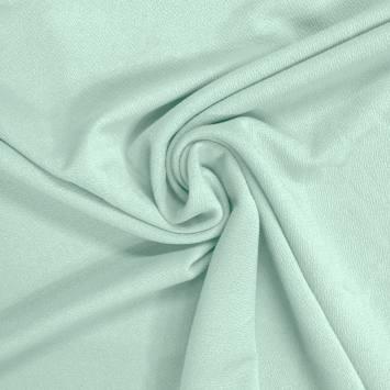 Tissu crêpe stretch vert menthe