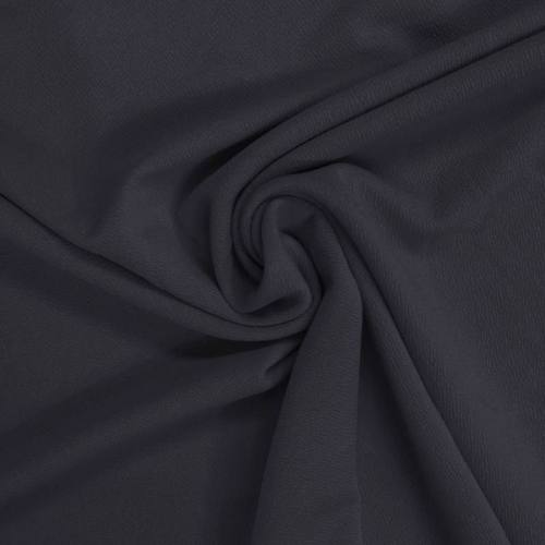 Tissu crêpe stretch bleu marine