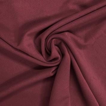 Tissu crêpe stretch lie de vin