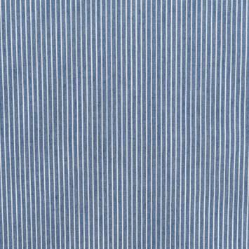 Tissu jean bleu clair à moyennes rayures