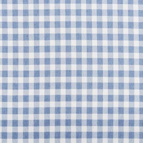 Tissu jean clair motif moyen carreau