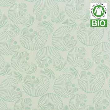 Jersey bio vert imprimé coquillages