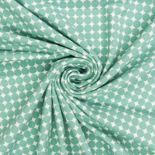 Jersey blanc imprimé rond vert