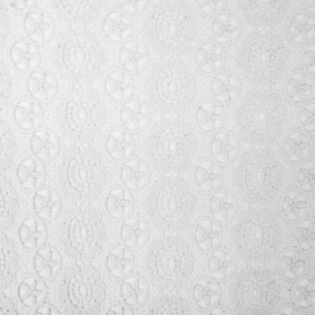 Dentelle guipure blanche motif Los Angeles
