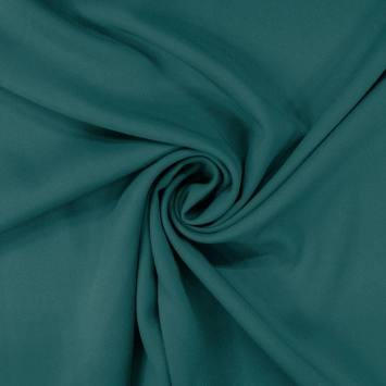 Tissu viscose twill bleu canard