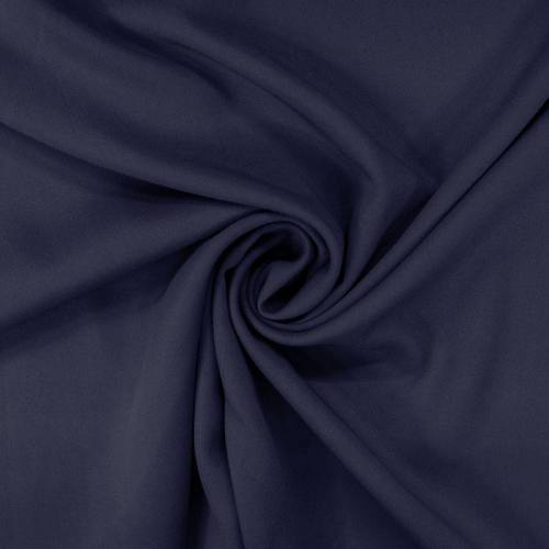 Tissu viscose twill bleu marine