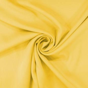 Tissu viscose twill jaune citron